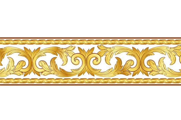 Style de bordure ornementale dorée