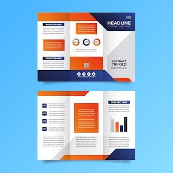 Style de brochure à trois volets abstrait