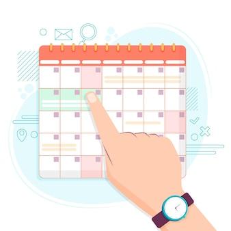 Style de calendrier de réservation de rendez-vous