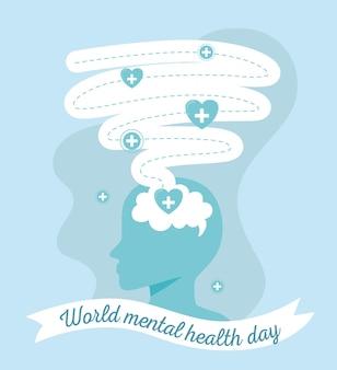 Style de carte mondiale de santé mentale
