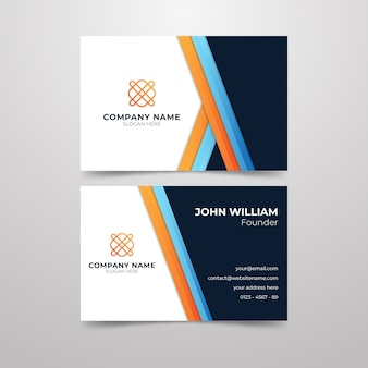 Style de carte de visite pour le fondateur de l'entreprise