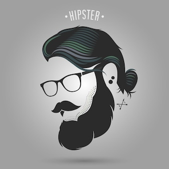 Style de cheveux chignon hipster