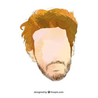 Le style de cheveux de l'homme