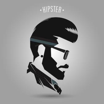 Style de cheveux vintage hipster