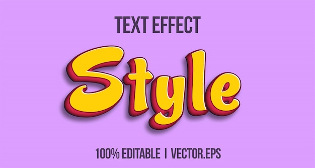 Style chreey casual 3d bold game text effect graphique style layer stayle style de police