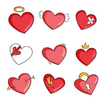 Style de collection de coeur