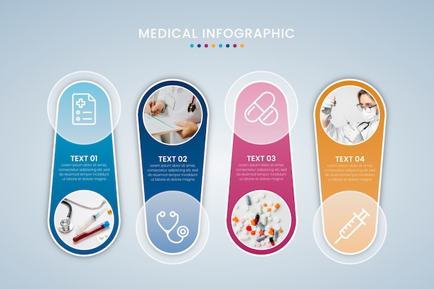 Style de collection d'infographie médicale