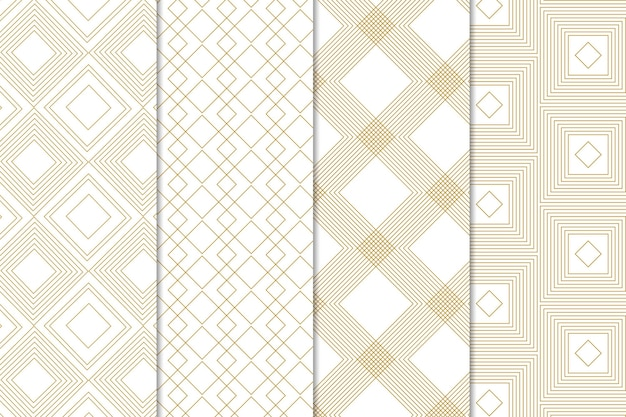Style de collection de motifs géométriques minimal
