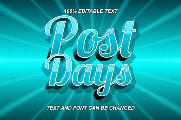 Style comique d'effet de texte modifiable après le jour
