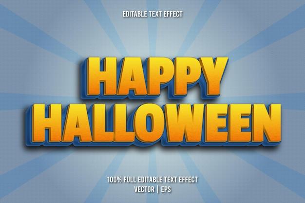 Style comique d'effet de texte modifiable joyeux halloween