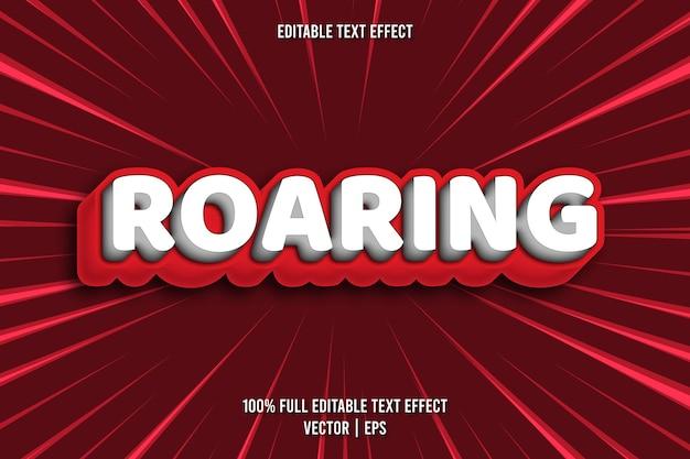 Style comique d'effet de texte modifiable rugissant