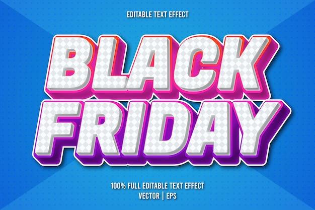 Style comique d'effet de texte modifiable vendredi noir