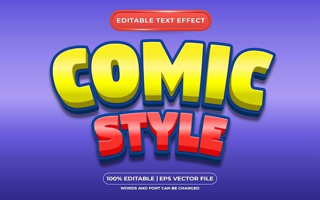 Style comique d'effet de texte modifiable
