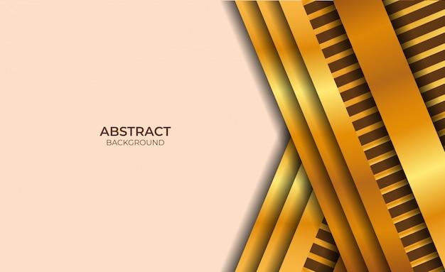 Style de conception abstraite rose clair et or