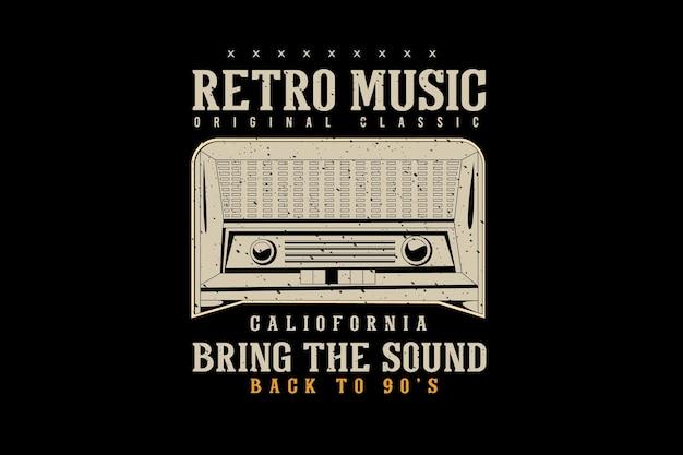 Style de conception de typographie de vêtements originaux de musique rétro vintage rétro