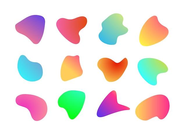Style de couleur dégradé moderne de forme liquide abstraite isolé sur fond pour bannière moderne irrégulière