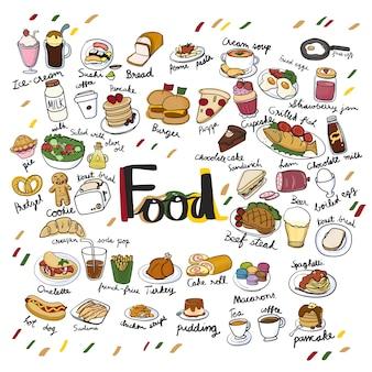 Style de dessin illustration de la collecte de nourriture