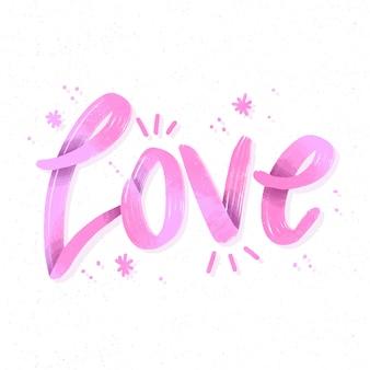Style de dégradé de lettrage d'amour