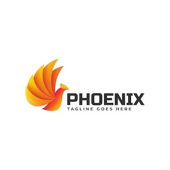 Style de dégradé de logo phoenix.