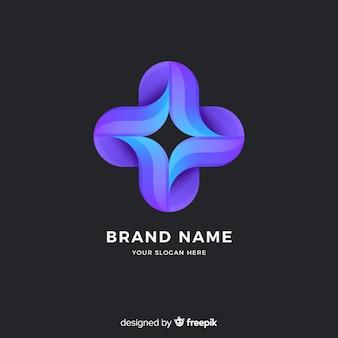 Style de dégradé de modèle de logo abstrait