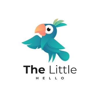 Style de dégradé d'oiseau de logo.