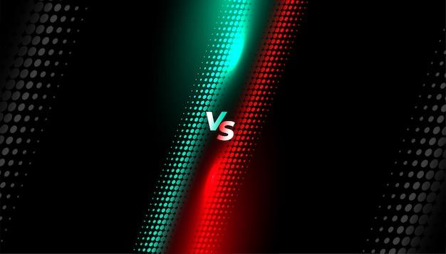 Style de demi-teintes versus modèle de fond d'écran