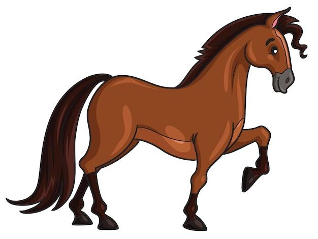 Style de dessin animé de cheval