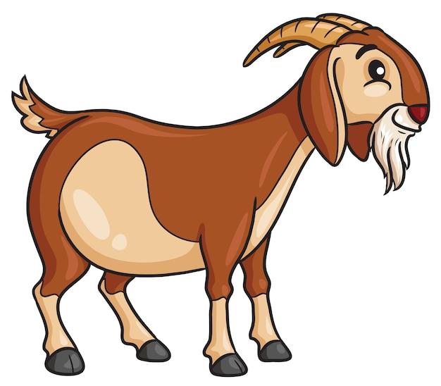 Style de dessin animé de chèvre
