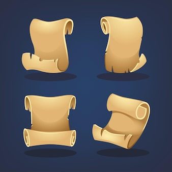 Style de dessin animé de collection de parchemin pour la conception de votre jeu mobile ou de votre application