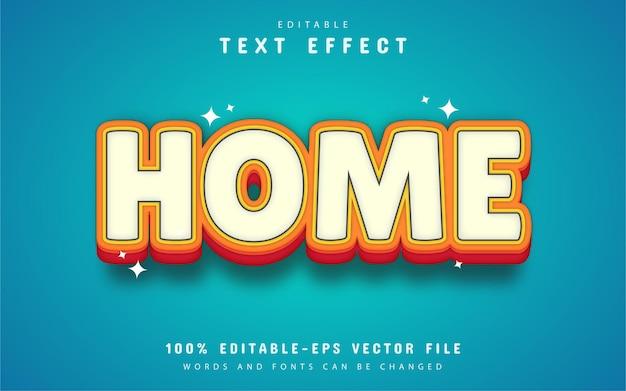 Style de dessin animé d'effet de texte maison