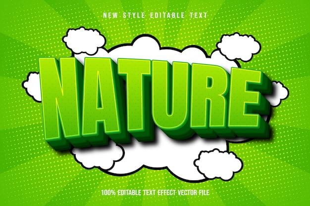 Style de dessin animé d'effet de texte modifiable nature