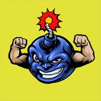 Style de dessin animé de personnage de bombe