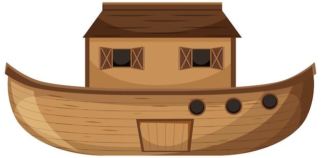 Style de dessin animé vierge de l'arche de noé isolé