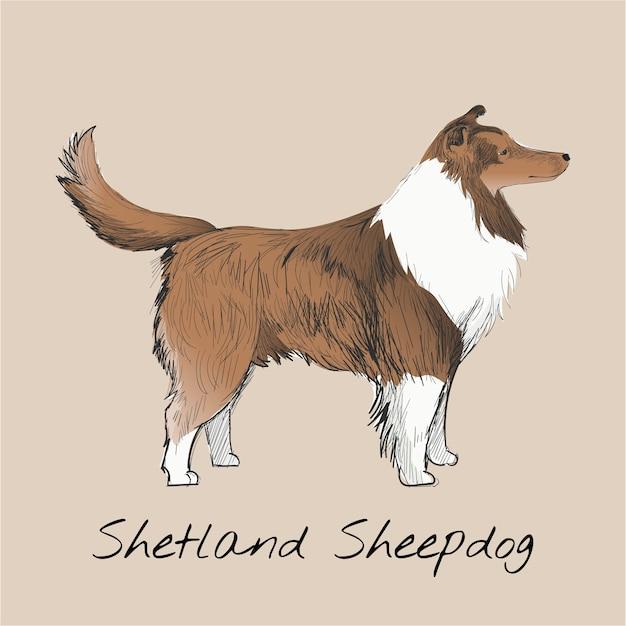 Style de dessin illustration de chien