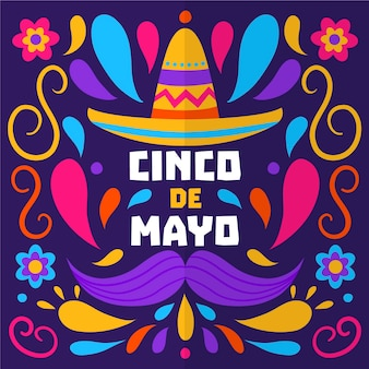Style dessiné à la main cinco de mayo