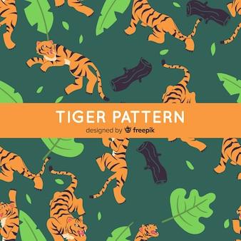 Style dessiné à la main de modèle de tigre