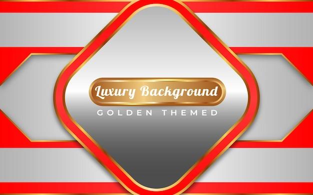 Style doré de luxe fond argent