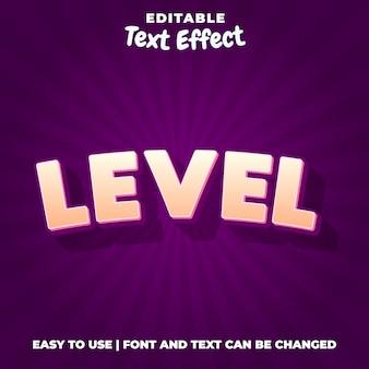 Style d'effet de texte 3d de niveau