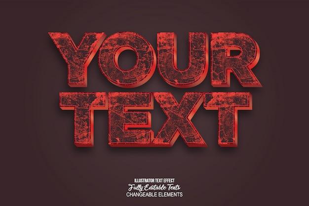 Style d'effet de texte 3d réaliste