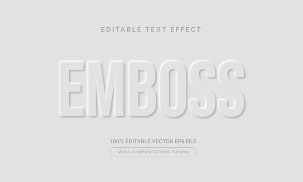 Style d'effet de texte blanc en relief effet de texte en relief modifiable
