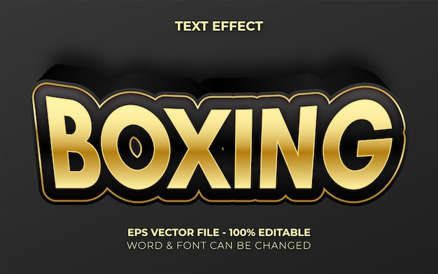 Style d'effet de texte de boxe effet de texte modifiable