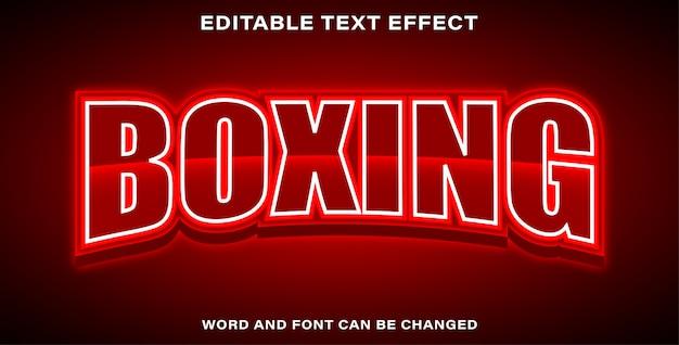Style d'effet de texte de boxe