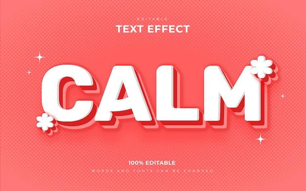 Style d'effet de texte doux et calme