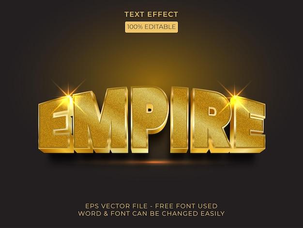 Style d'effet de texte empire thème d'or d'effet de police de texte modifiable