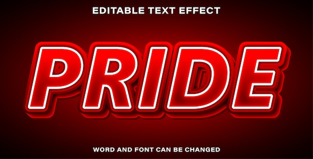 Style d'effet de texte de fierté