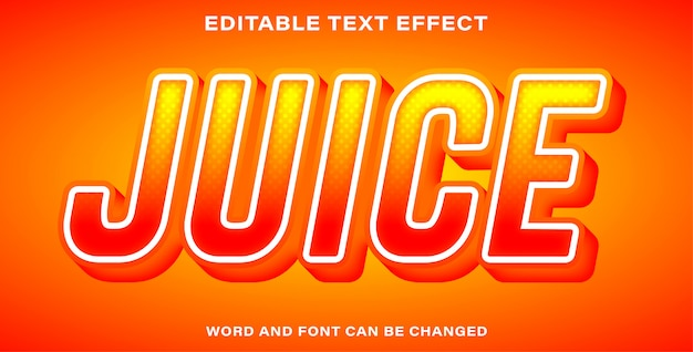 Style d'effet de texte de jus