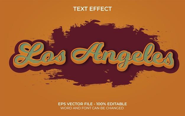 Style d'effet de texte de los angeles thème vintage d'effet de texte modifiable