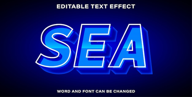 Style d'effet de texte de la mer