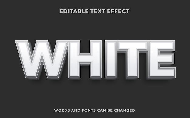 Style d'effet de texte modifiable blanc