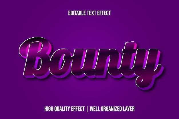 Style d'effet de texte modifiable bounty purple